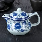 "The tea pot 450 ml ""Bloom of roses"", a metal sieve"