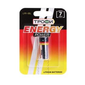 "Батарейка алкалиновая ""Трофи"" Alkaline, LR1-1BL, 1.5В, блистер, 1 шт."