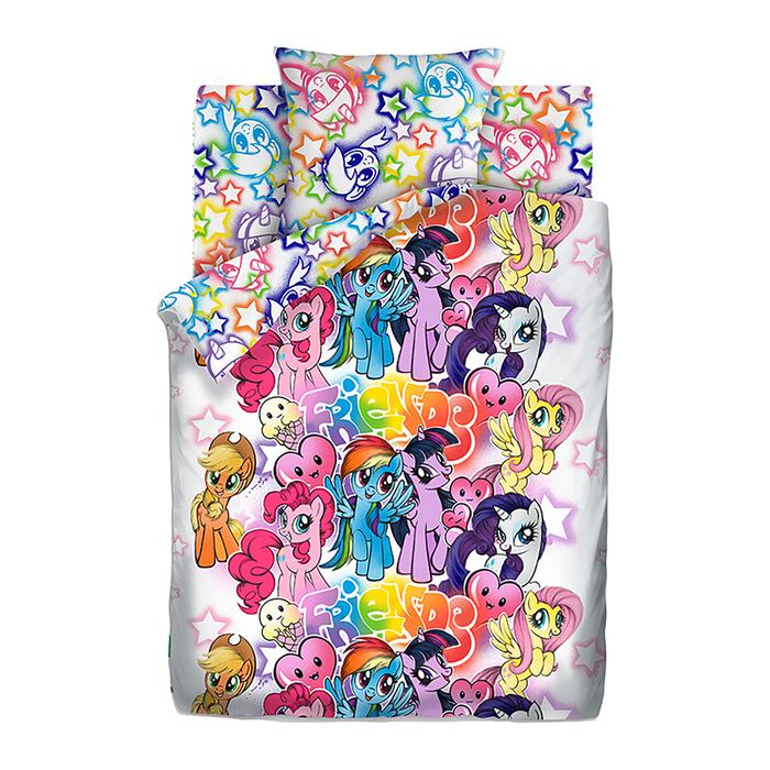 Постельное бельё 1,5 сп My little Pony Neon «Граффити»