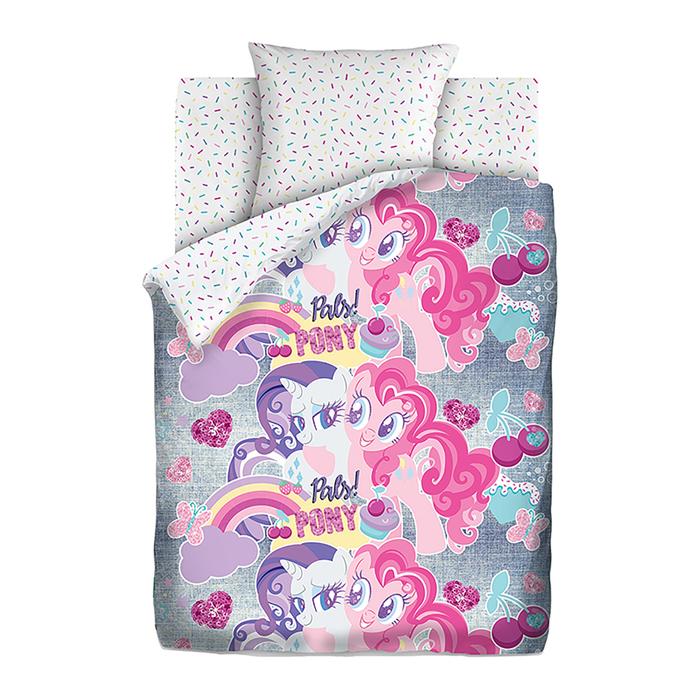 """Постельное бельё 1,5 """"My little Pony"""" Neon Подружки пони"""