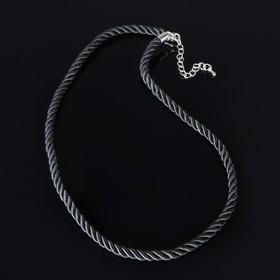 Lace, textile, d=6mm, L=45cm, color black, rope netting