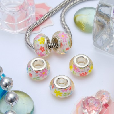"Bead ""Floral"", color"