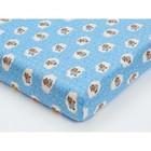 Простыня, размер 60×120 см, фланель, голубой, принт овечки