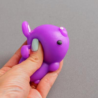 Мялка-антистресс «Зайка», цвет сиреневый