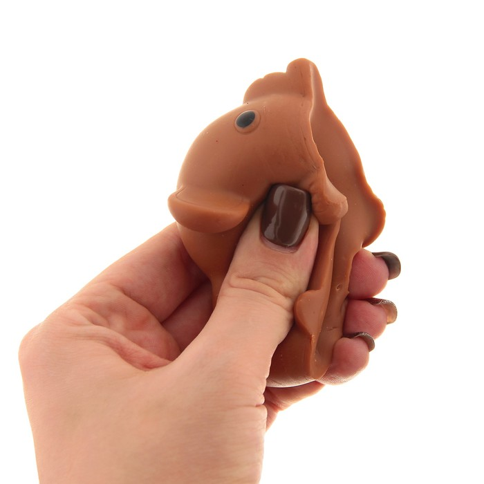 """Мялка-антистресс """"Слоник"""", цвет коричневый"""