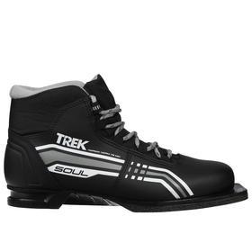 Ski boots TREK Soul NN75 IR, black, logo gray, size 38.
