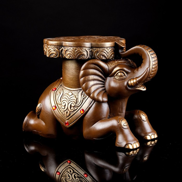 """Статуэтка """"Слон"""", бронзовый цвет, 32 х 22 см"""