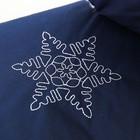 Муфта-варежки на санки или коляску «Снежинка» меховая, на кнопках, цвет синий - фото 105546519
