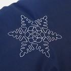 Муфта для рук на санки или коляску «Снежинка» меховая, на кнопках, цвет синий - фото 105546541