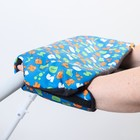 Муфта для рук на санки или коляску меховая, на кнопках, с рисунком - фото 105546468