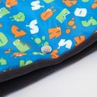 Муфта для рук на санки или коляску меховая, на кнопках, с рисунком - фото 105546470