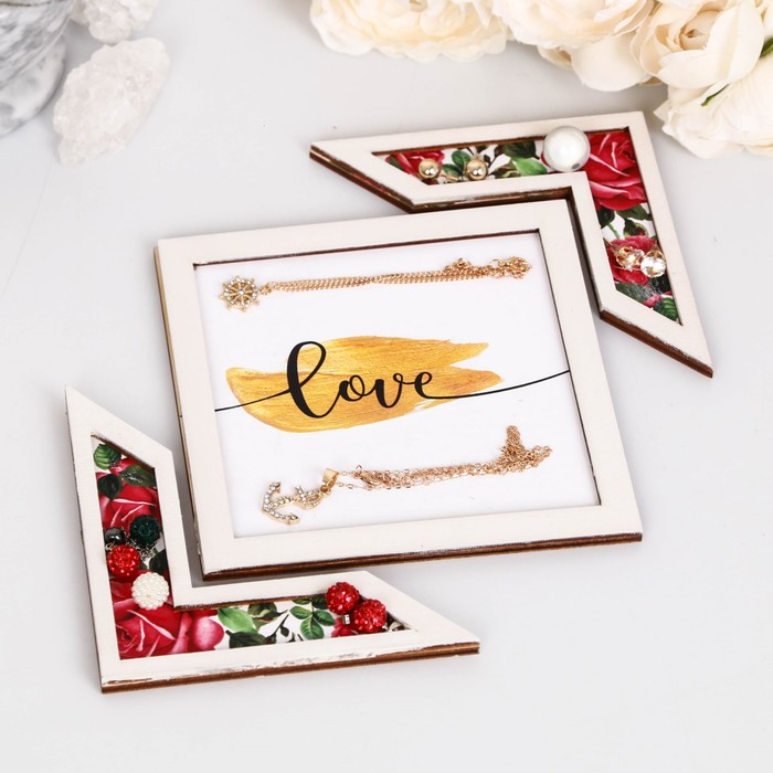 "Подставка для аксессуаров ""Love"" розы"