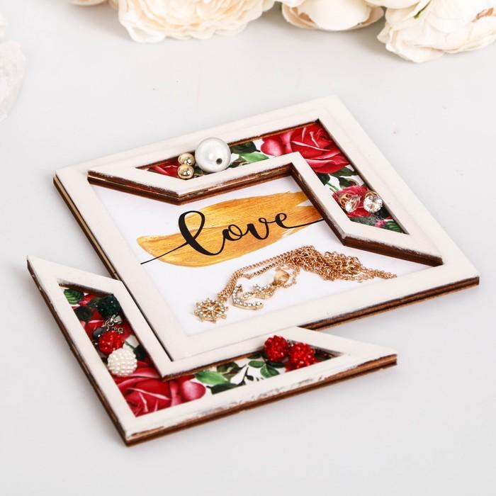 """Подставка для аксессуаров """"Love"""" розы - фото 418285651"""