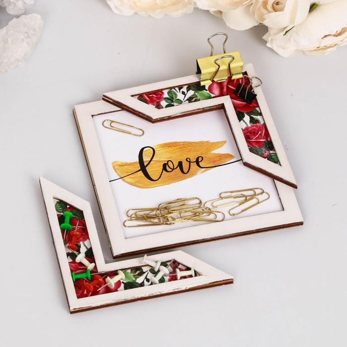 """Подставка для аксессуаров """"Love"""" розы - фото 418285652"""