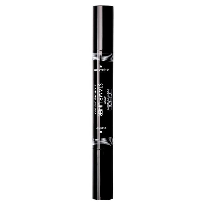 Подводка-фломастер для глаз Lamel professional Stamp and Liner Duo со штампом, чёрный