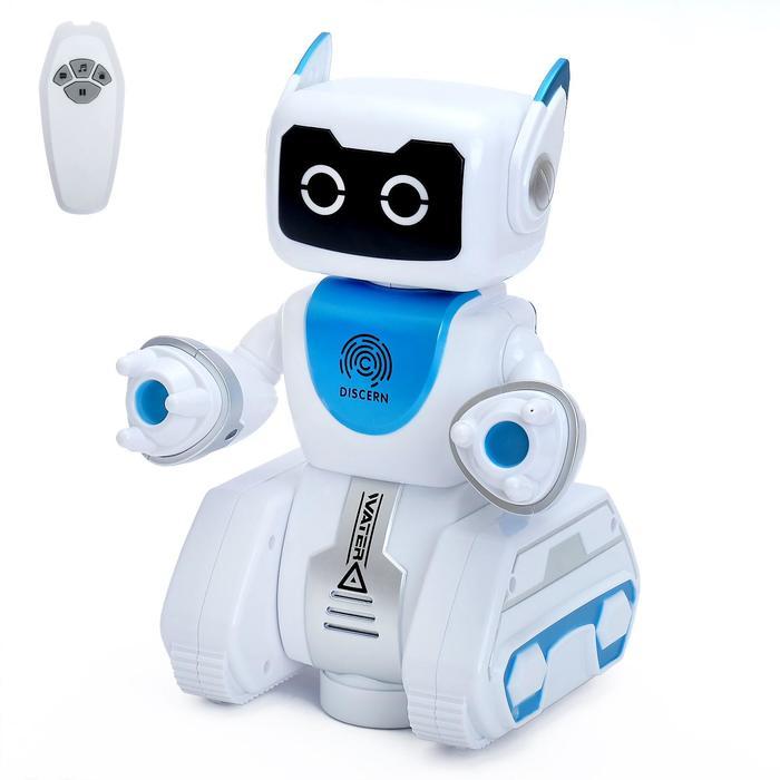 Робот интерактивный, радиоуправляемый «Вольт», световые и звуковые эффекты, работает от батареек - фото 105508531