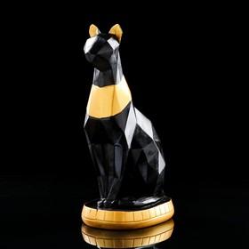"""Статуэтка """"Кошка геометрия"""" черная, 37 см"""