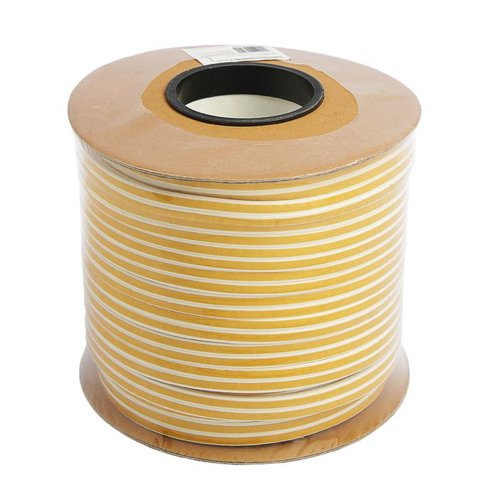 Уплотнитель резиновый TUNDRA krep, профиль D, размер 9х8 мм, белый, в катушке 100 м.
