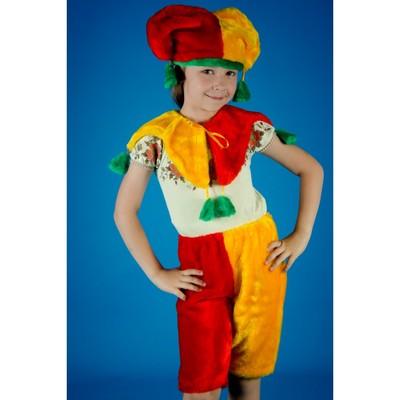 Карнавальный костюм «Петрушка», на резинке, рост 104-134 см