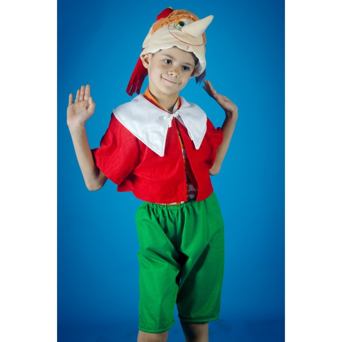 Карнавальный костюм «Буратинка», на резинке, рост 104-134 см