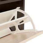 Обувница Приветливая-1, 600х222х1232 Венге темный/венге светлый - фото 4639996