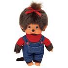 Мягкая игрушка «Мончичи Девочка» в комбинезоне и красной футболке, 20 см