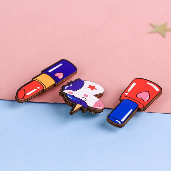 """Набор значков в кошельке """"Бьюти"""" - фото 300811862"""