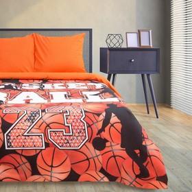 """Bed linen Ethel """"Basketball"""", 2-SP., 175 × 215 cm, 200 x 220 cm, 70 × 70 cm (2 PCs), 100% cotton"""