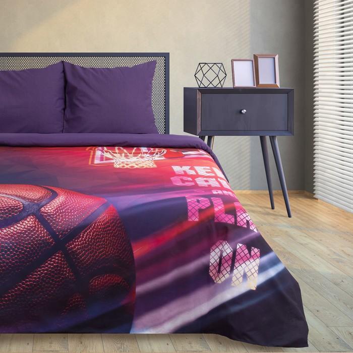 Постельное бельё Этель Play On, 1.5-сп., 143 × 215 см, 150 × 214 см, 70 × 70 см (2 шт.), хлопок 100 %