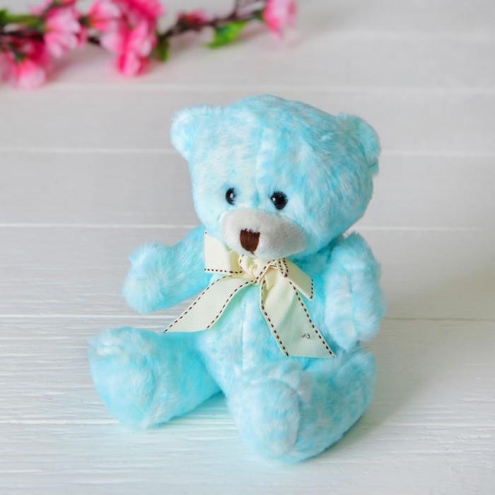 Мягкая игрушка «Медведь», с бантом, цвет голубой