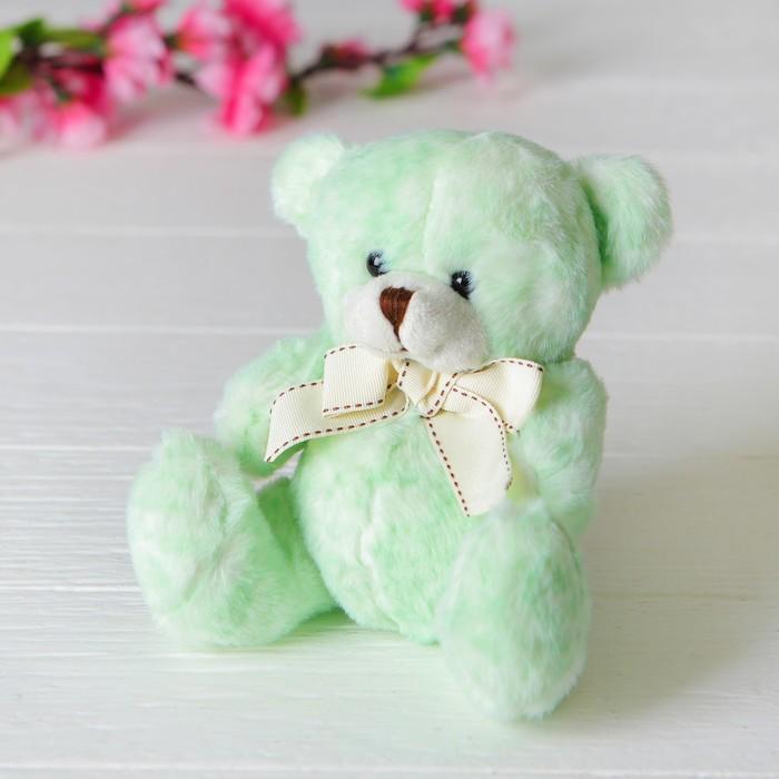 Мягкая игрушка «Медведь», с бантом, цвет мятный