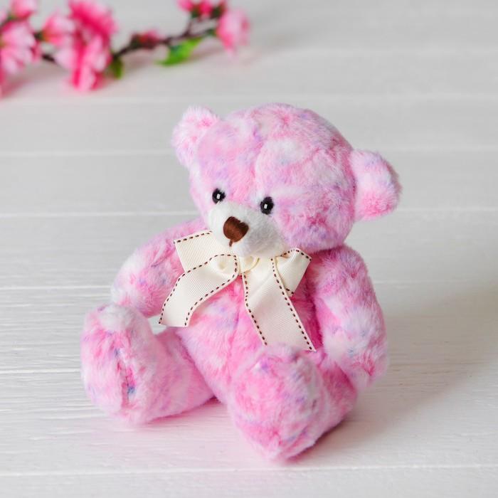 Мягкая игрушка «Медведь», с бантом, цвет розовый