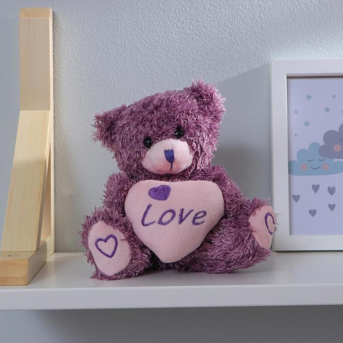 Мягкая игрушка «Мишка с сердечком», цвета МИКС