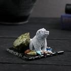 "Сувенир ""Медведь сидящий"", змеевик, мрамор"