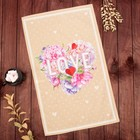 "Towel ""Ethel"" Peonies Love 40х67 cm, 100% cotton, twill 190 g/m2"