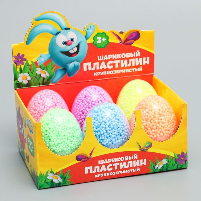 Шариковый пластилин крупнозернистый СМЕШАРИКИ, набор 6 цветов, 24 гр, цвета МИКС
