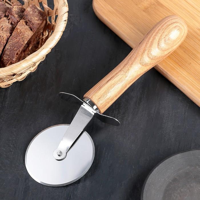 """Нож для пиццы и теста 20,5 см """"Кафу"""", ручка из бразильской гевеи"""