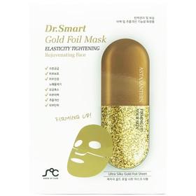 Омолаживающая маска для лица Dr. Smart Gold Foil Mask с астаксантином