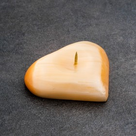 """Candle holder """"Heart"""", 2×6 cm, Selenite"""