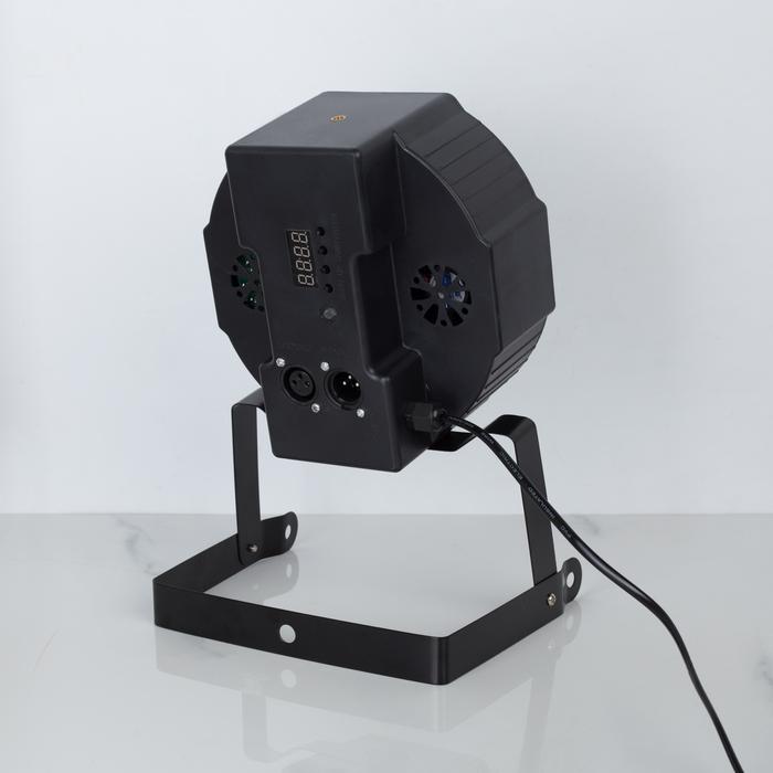 Прожектор для сцены, 18 Вт, 220 В, 18 диодов, DMX упр, провод 1 м, RGBW - фото 303867747
