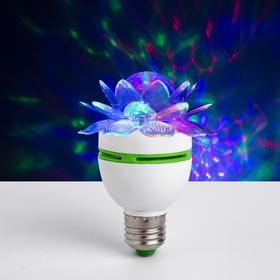 Лампа «Хрустальный цветок», d = 7,5 см, 220 В, цоколь Е27 Ош