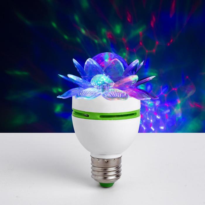 Лампа «Хрустальный цветок», d = 7,5 см, 220 В, цоколь Е27