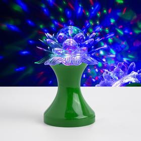 """Световой прибор хрустальный шар """"Цветок"""" диаметр 12,5 см, 220 В, ЗЕЛЁНЫЙ"""