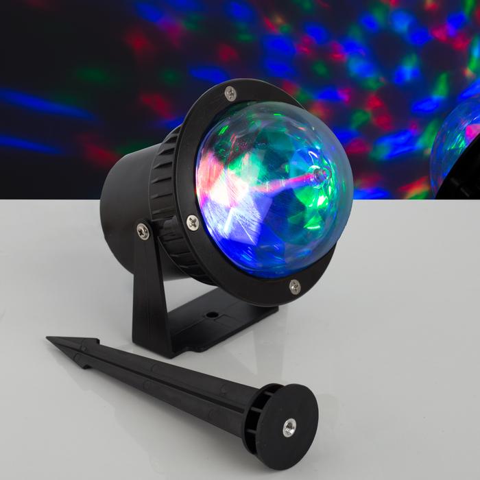 Световой прибор «Хрустальный уличный шар», d = 10 см, 12 В, IP65