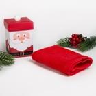 """Махровое полотенце """"Дед Мороз"""" 30х30 см, хлопок 340гр/м2"""