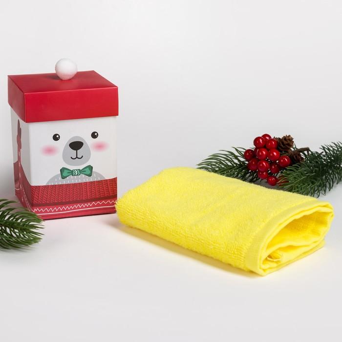 """Махровое полотенце """"Мишутка"""" 30х30 см, хлопок 340гр/м2"""