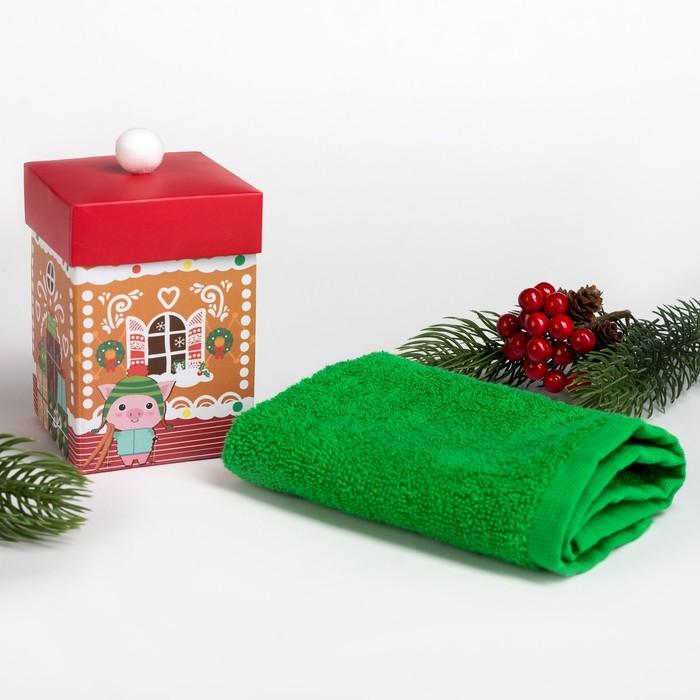 """Махровое полотенце """"Домик"""" 30х30 см, хлопок 340гр/м2"""