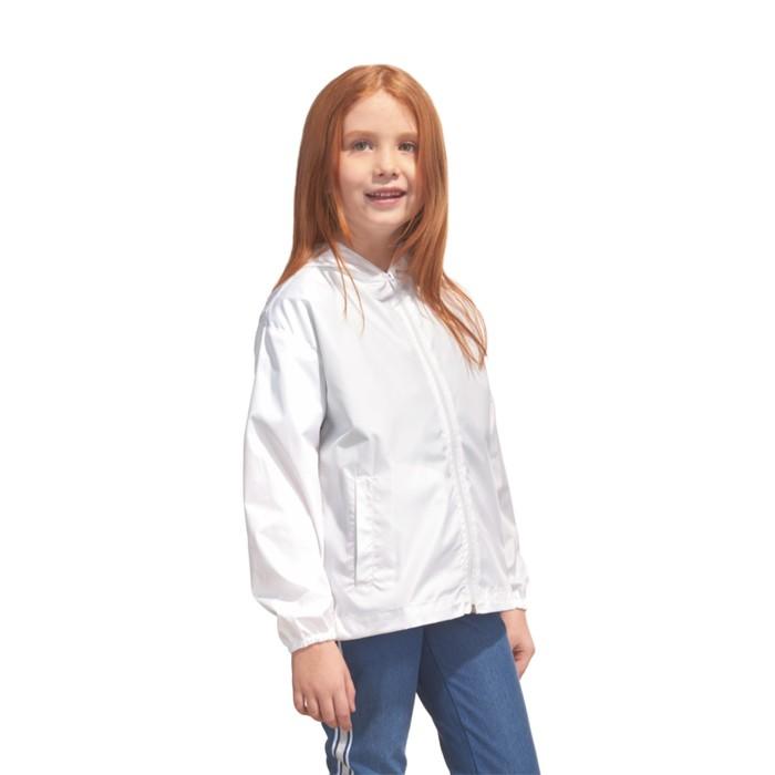 Ветровка детская StanRainJunior, рост 128 см, цвет белый