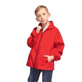 Ветровка детская, рост 140 см, цвет красный