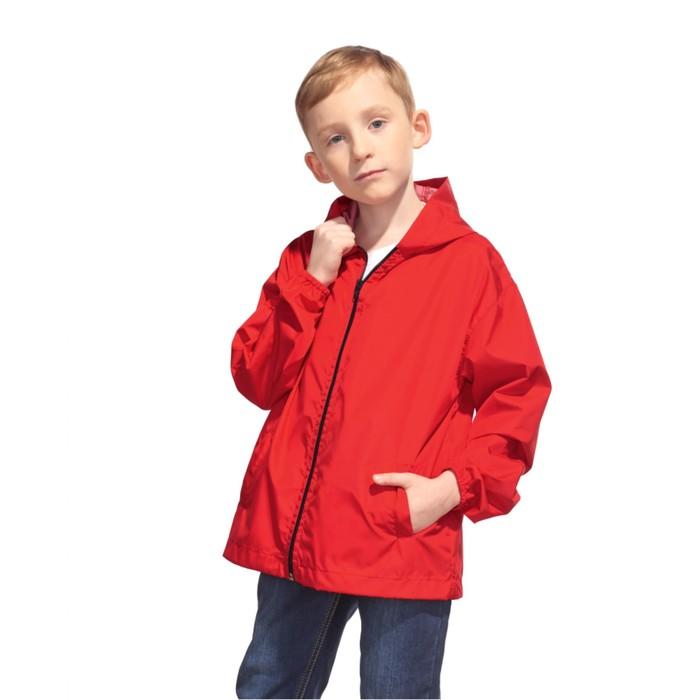 Ветровка детская StanRainJunior, рост 140 см, цвет красный